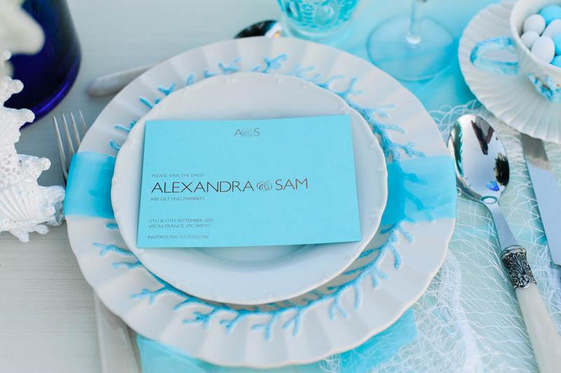Bright Blue Wedding Events Light Blue Wedding Decor Close